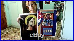 Black Panther George Jackson Power To The People Cuba Ospaaal Rare Original