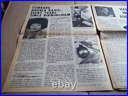 Black Panther Newspaper Sept. 18, 1971 Angela Davis, George Jackson VG+
