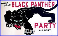 Black Panther Party History Black Liberation Poster Signed New Low Price