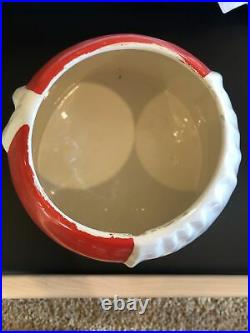 Brayton Laguna Black Americana Red Cookie Jar Great condition