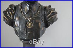 Bronze Blackamoor African Sculpture Bust Large