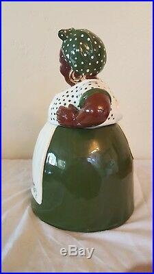 Bryton Black Americana Mammy Cookie Jar signed by A. Doland