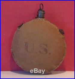 Buffalo Soldier Indian War Period Canteen Marked to All-Black 9th Cavalry