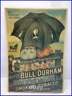 Bull Durham Black Americana Smoking Tobacco My! It Sure Am Sweet Advertising