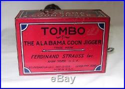C. 1910's Ferdinand Strauss Tombo The Alabama Coon Jigger Litho Tin Windup Toy
