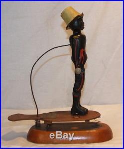 CIVIL WAR Black Americana Dancing Jigger Minstrel Wood 1864 Clough & Burrell's