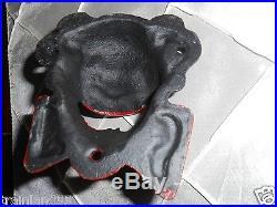 CLOWN BLACK AMERICANA CAST IRON BOTTLE OPENER, BAR DECOR WELL MADE STRONG