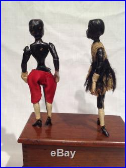 Ca. 1870's-1890's IVES DOUBLE DANCERS TOY BLACK AMERICANA CLOCKWORK, RARE