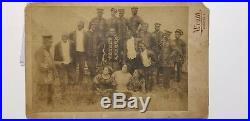 Cabinet Card African American Band Early 1910 HagenbeckWallace Circus