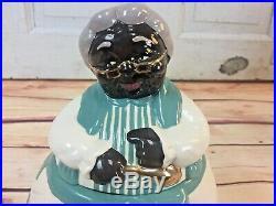 Carol Gifford mammy cookie jar 24 karat gold trim Blk Americana Lovely