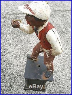 Cast Iron Black Lawn Jockey