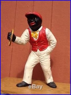 Cast Iron Lawn Jockey Jocko Black Americana Art Statue item