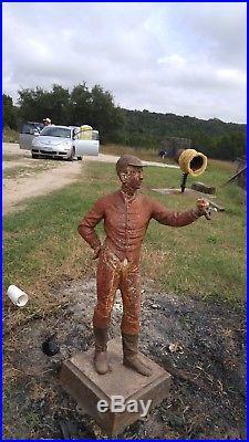 Cast Iron lawn jockey- 4 ft tall