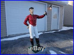 Cast iron cavalier lawn jockey