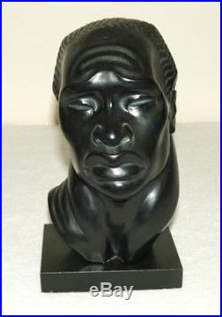 Ceramic African Head By Fred Press