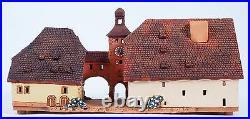 Ceramic Tealight Holder Collectible Miniature Brückentor in Germany 13 cm