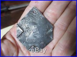 Charleston SC Antique Slave Servant metal Tag 1862 #146 Corners Bent