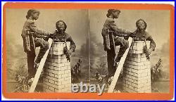 Chimney Sweeps Black African American Stereoview Savannah Georgia Super Tones