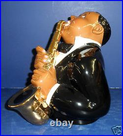 Clay Art Jazzed Up Cookie Jar- New in Box- Retired #8874- Black Americana