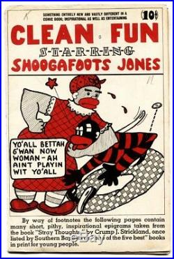 Clean Fun Starring Shoogafoots Jones #1 1944-specialty-1st Issue-black Americana