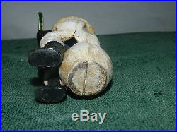 Collectible Cast Iron Black Americana Boy Sitting Eating Watermelon Penny Bank