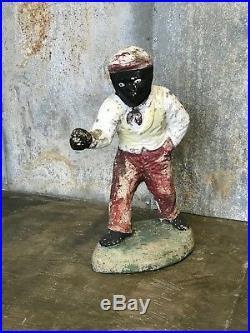 Concrete Lawn Jockey Black Americana