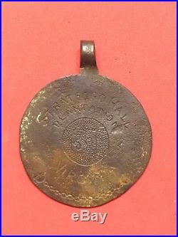 Copper Stratford Hall Plantation Tag Dated 1837