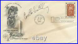 Coretta Scott King Signed Martin Luther First Day Cover JSA COA Civil Rights