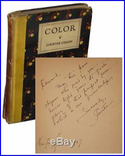 Countee Cullen Color INSCRIBED To Gay Lover LGBT SIGNED W. E. B. DuBois