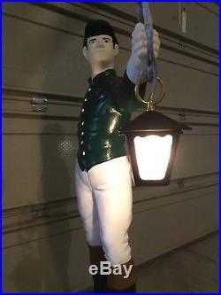 Custom LAWN JOCKEY 44 Concrete Statue (ASK ABOUT ELECTRIC LANTERN)