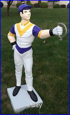 Custom LAWN JOCKEY 44 Concrete Statue (Possible Delivery. ASK)Horse, Yard