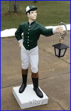 Custom LAWN JOCKEY 44 Concrete Statue (Possible FREE Delivery. ASK) Horse Race