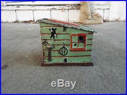 Darky in Cabin Original J & E Stevens Mechanical Bank. 1885 WOW LOOK AT PAINT