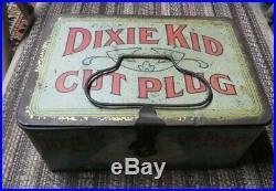 Dixie Kid Cut Plug Tobacco Lunch Pail Black Americana African-American