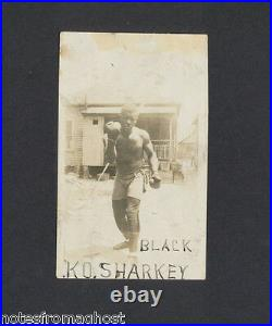 EARLY 1900's BOXER K. O. SHARKEY AFRICAN AMERICAN ORIGINAL PHOTO KNOCKOUT BOXING