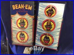 EARLY 1931 All Fair BLACK AMERICANA SAMBO BOARD GAME TOY Bean Em In Box