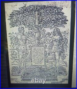EXCEPTIONAL 17TH CENTURY ANTIQUE FIREBACK CIRCA 1610 Adam & Eve GARDEN OF EDEN