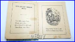 EXTREMELY RARE 19th c. Racial Children's Black Americana Nursery Rhyme Book