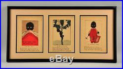 Early African American Children's Book Prints, Nicely Framed
