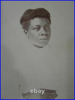 Early Fine Victorian African American Woman Emotions Antique Artistic CDV Photo