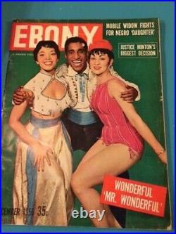 Ebony Magazine Dec 1956 Sammy Davis Jr withOlga James & Chita Rivera