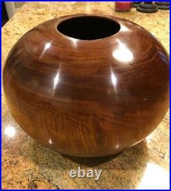 Ed Moulthrop Black Walnut Turned Wooden Bowl