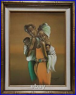 Elaine Dungill(1930-2007) Lithograph Painting Black Family Lives Matter