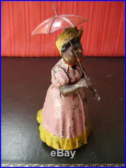 Exceedingly Rare 1910's SG Günthermann Gunthermann Tin Wind-up Cackling Lady