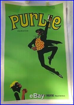 Exceedingly Rare Important Black Americana ORIGINAL POSTER Broadway Show, PURLIE