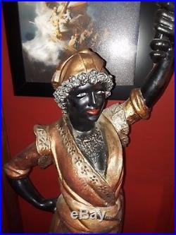 Exceptional Italian Blackamoor Statue circa 1920's