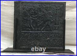 Exceptionally Important 18th Century Antique Fireback Circa 1749 Pennsylvania