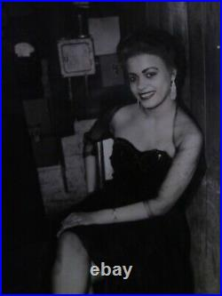 Extremely Rare Billy Holiday Photo in Paradise Valley night club from Detroit Mi