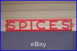 F&F Aunt Jemima Spice Set With Red Spice Rack Rare