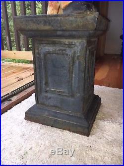 Fabulous Antique Large 38 Cast Iron Lawn Jockey / Hitching Post Jocko